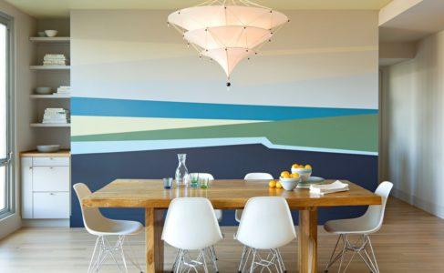 Необычная покраска стен — особенности