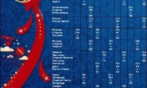 Расписание матчей Чемпионата Мира  2018 по футболу скачать
