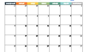 Календарь на 2021 в Word