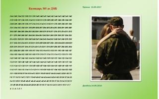 Календарь 365 дней до ДМБ распечатать
