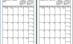 Календарь с большими квадратами на 2019 год