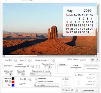 сделать обои-календарь